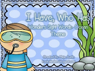 https://www.teacherspayteachers.com/Product/I-Have-Who-Has-Wonders-Sight-Words-Ocean-Theme-1243549