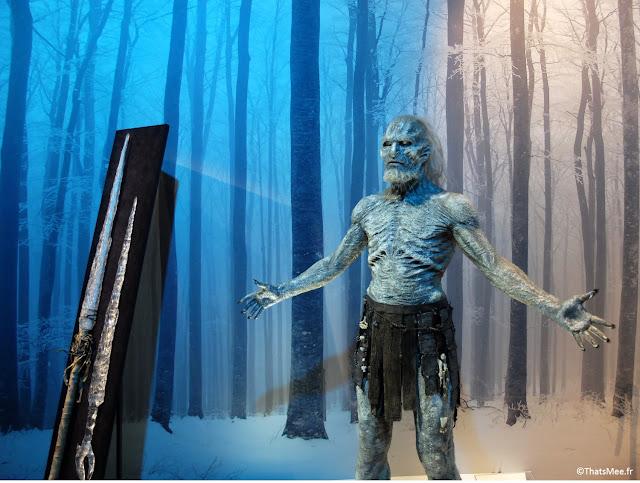 exposition exhibition Games Of Thrones The white walkers les marcheurs blancs, Paris OCS HBO carrousel de Louvre GOT