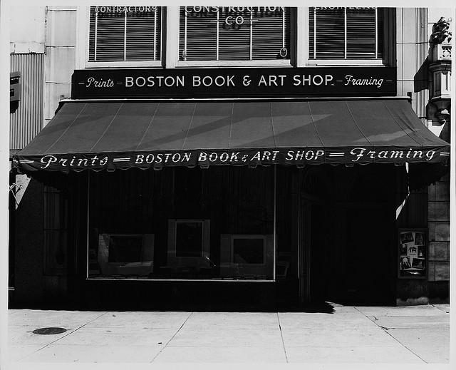 Boston Book & Art Shop, Boylston Street, Boston, circa 1955