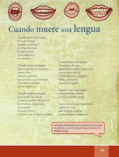 Apoyo Primaria Español Lecturas 6to Grado Ihcuac thalhtolli ye miqui (Náhuatl)/Cuando muere una lengua