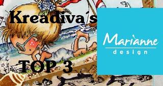 Top 3 bij Marianne Design KreaDiva's