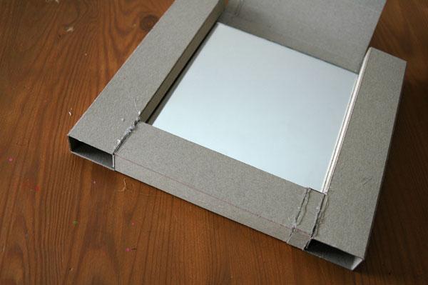 Как сделать рамку из картона для зеркала