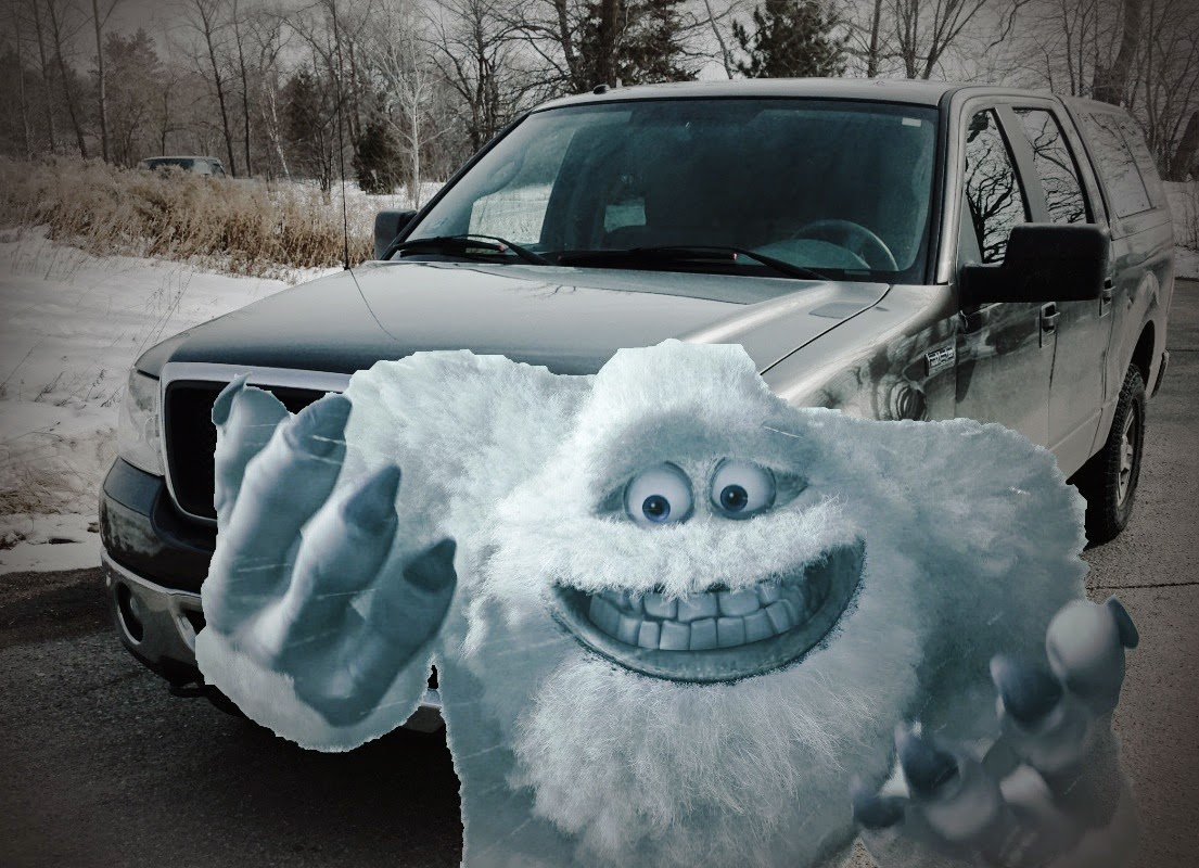 The abominable snowman!