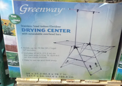 Go green while drying your clothes naturally with the Greenway Stainless Steel Indoor/Outdoor Drying Center