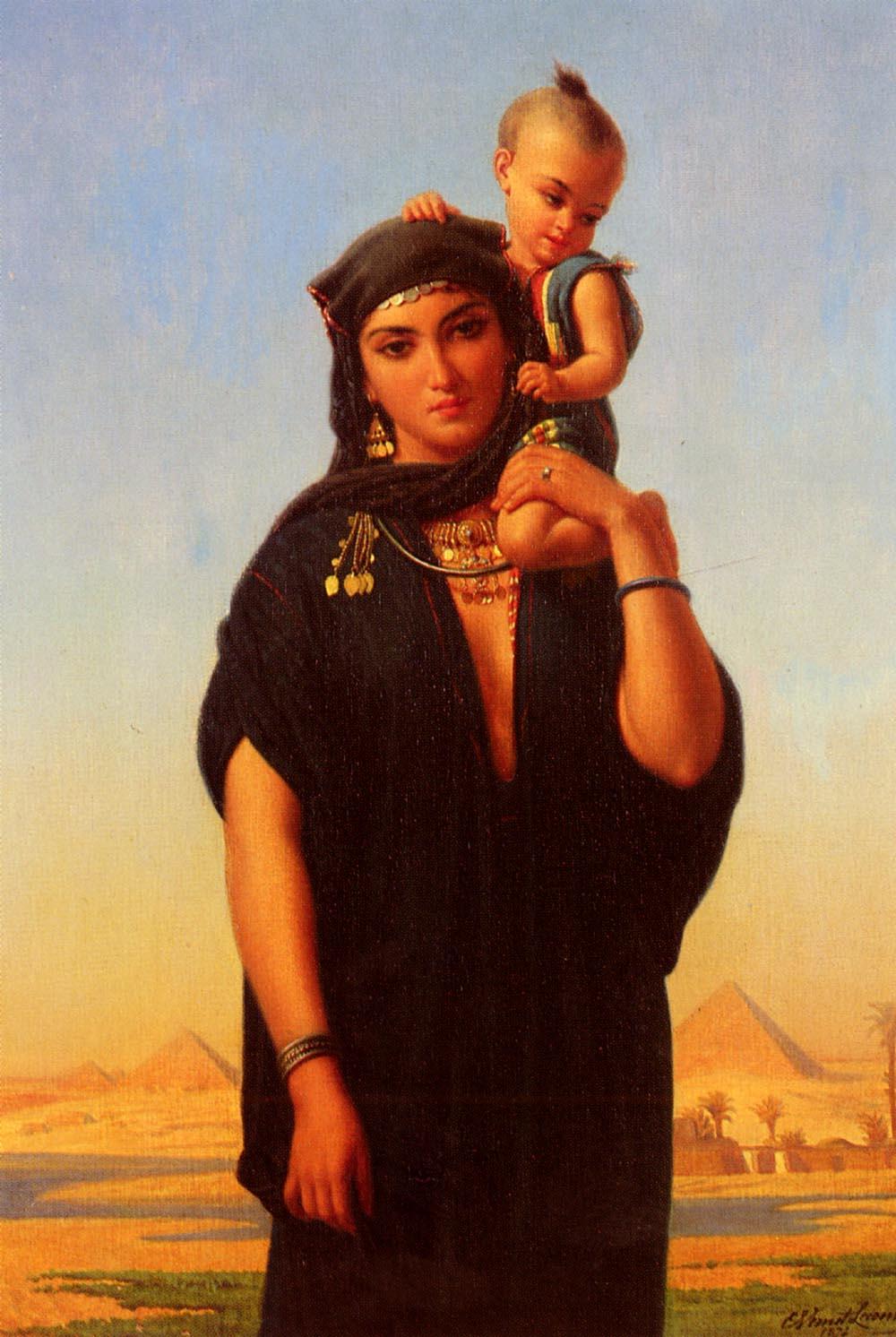 Femme Fellah Portant Son Enfant (Egypte).jpg