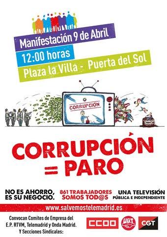 9 abril Manifestación Tele Madrid