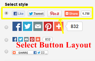 Select Buttons Layout
