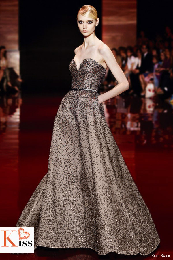 Champagne Elie Saab Fall/Winter 2013-2014 Couture