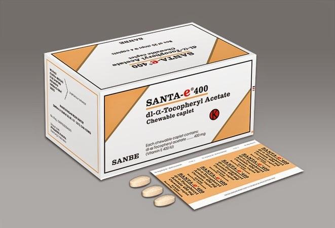 SANTA-E  (dl-α-Tocopheryl Acetate, Kaplet Kunyah)