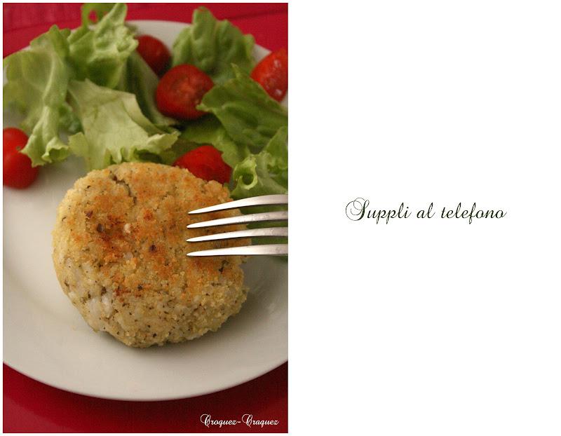 rice rice croquettes supplì al telefono suppli al telefono fried rice ...
