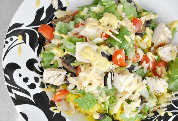 Chicken Kitchen Mexican Chop Chop Copycat with Creamy Curry dressing