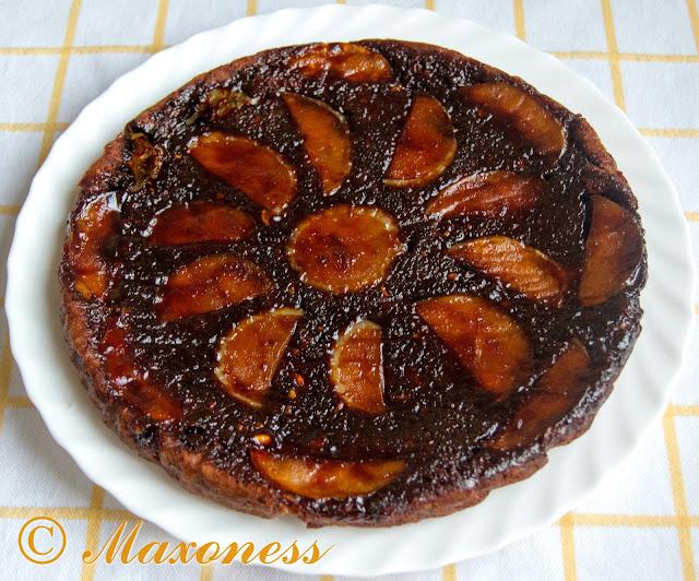 Веганский тарт татэн с карамелизованным яблоком