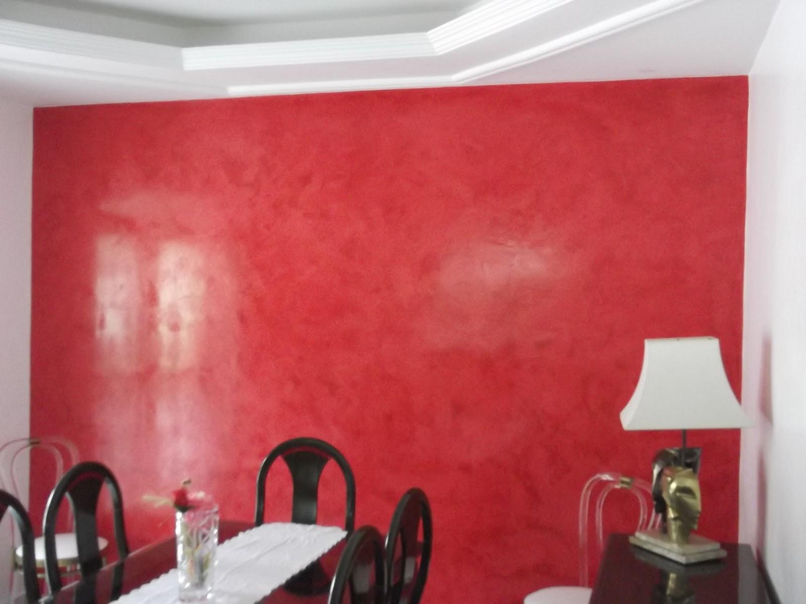 Efeito m rmore vermelho suvinil jairo pintor fino acabamento for Pintura decorativa efeito marmore