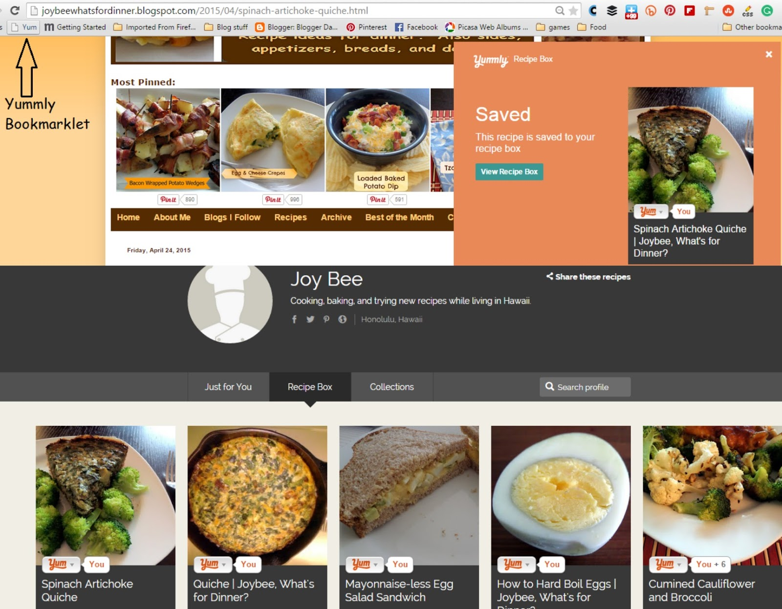 Yummly for Food Bloggers:  Yummly is a photo and recipe search/sharing website that is great for showcasing your work and finding new recipes.