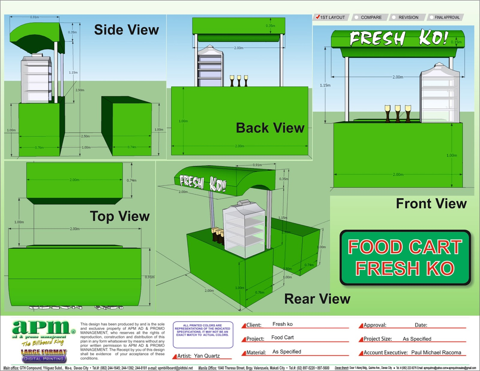 Food Cart Design   YHAN GRAPHICS DESIGN