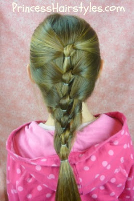 seashell knot braided hairstyle