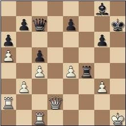 Partida de ajedrez Medina - Alekhine, posición después de 31.g3!