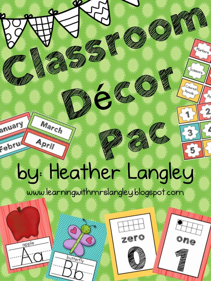 http://www.teacherspayteachers.com/Product/Classroom-Decor-Pac-1275157