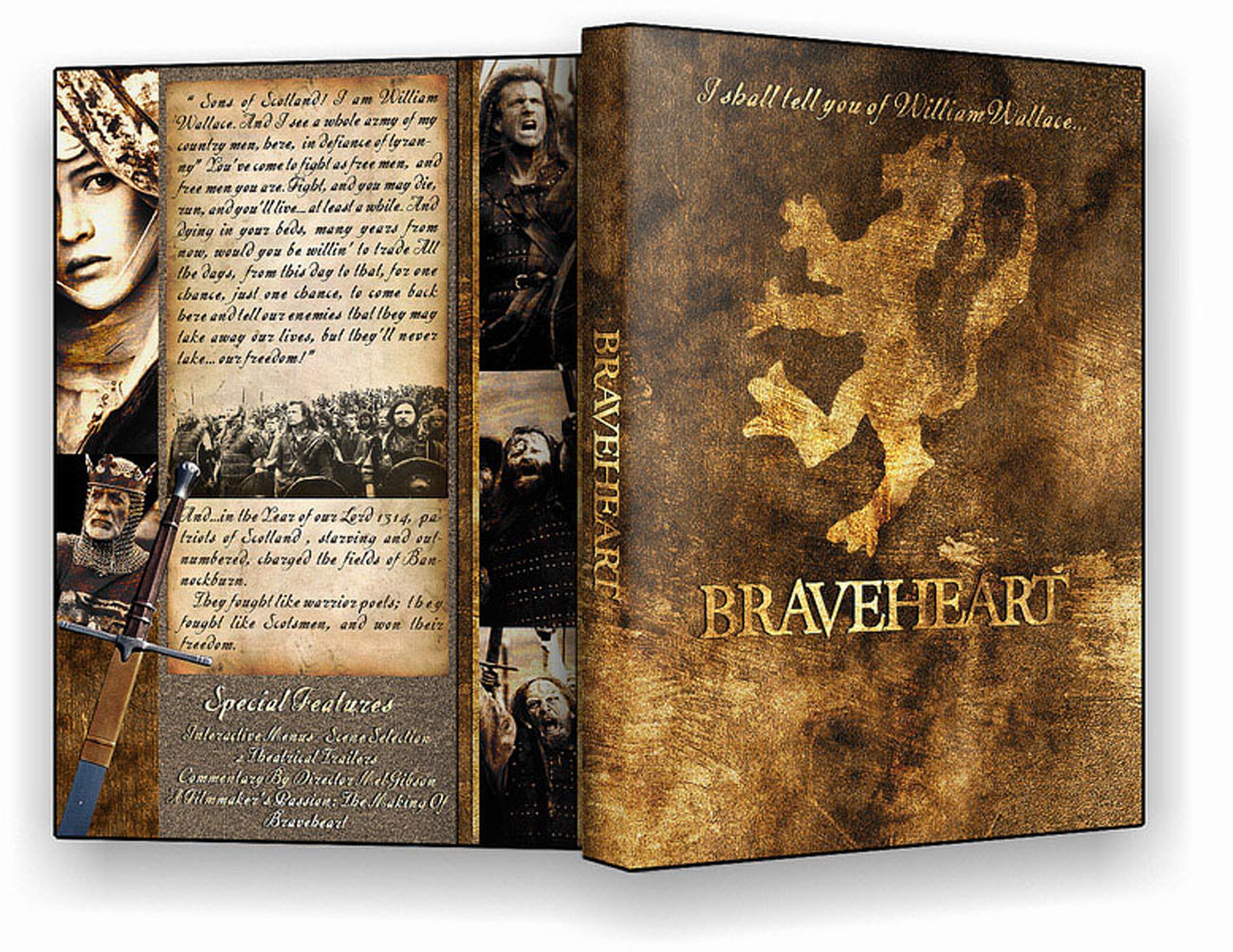Braveheart Dvd Case Box