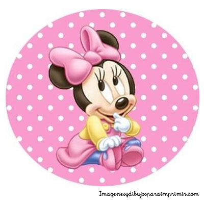 Minnie in pink to print images and pictures to print