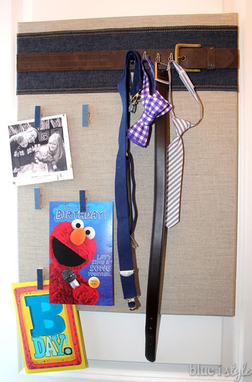 Back of door organization for boys room