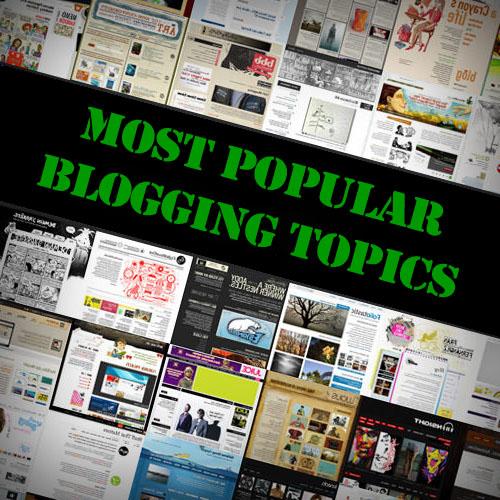 Most Popular Blogging Topics 2015