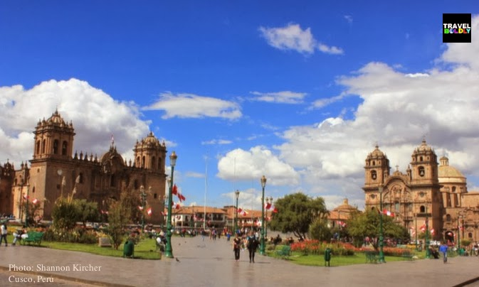 Plaza de Armas in Cusco, Peru. Photo: Shannon Kircher for TravelBoldly.com