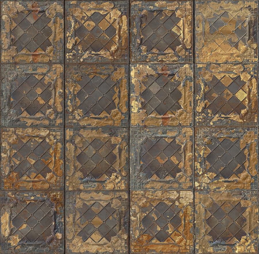 Old tiles floor sims4luxury for Mosaic wallpaper for walls