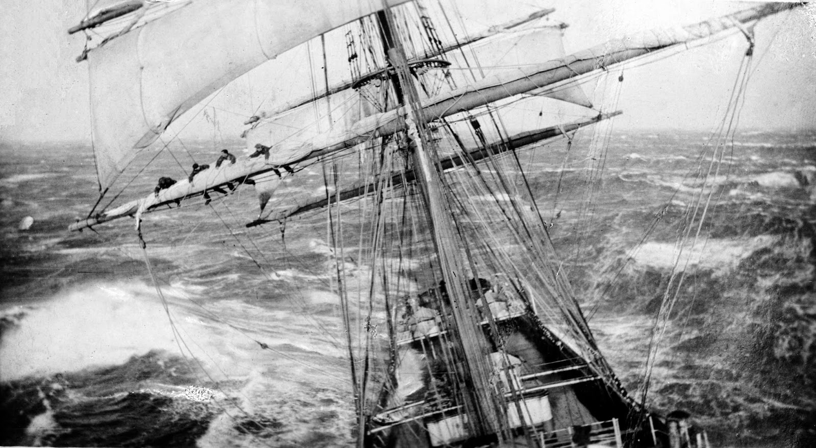 Sailing ships nautical handcrafted decor blog ship garthsnaid at sea c 1920 men can be seen in the rigging via httpenpedia pooptronica Choice Image