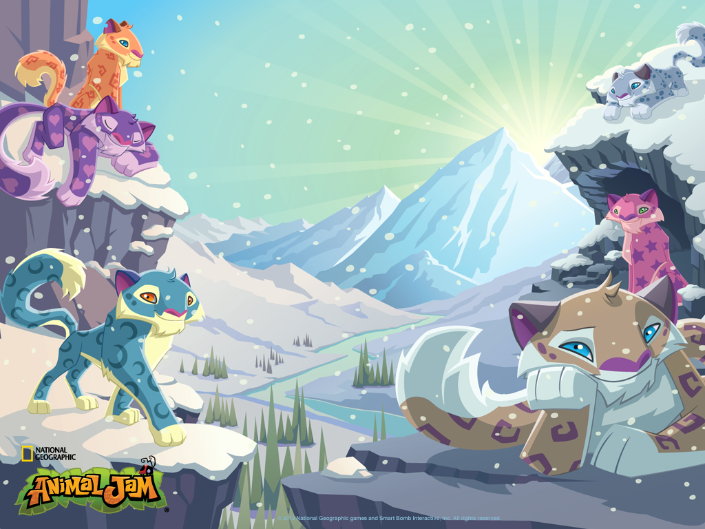 Animal Jam Coloring Pages Snow Leopard : The animal jam aqua meet puffy
