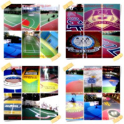 gambar Pengecatan Lapangan dan Branding
