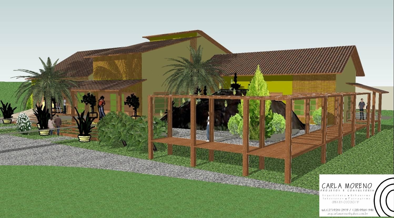 ipe de jardim familia:Além de valorizar a área deste jardim de pedras , o píer serve como