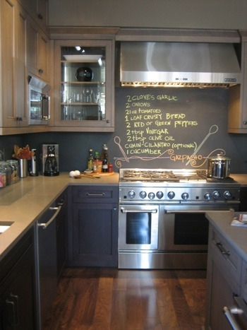 Inspired whims creative and inexpensive backsplash ideas - Kitchen chalkboard paint ideas ...