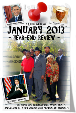 CHECK OUT THIS LOOK BACK AND REVIEW OF JANUARY 2013 MADE POSSIBLE BY VERNON SMITH