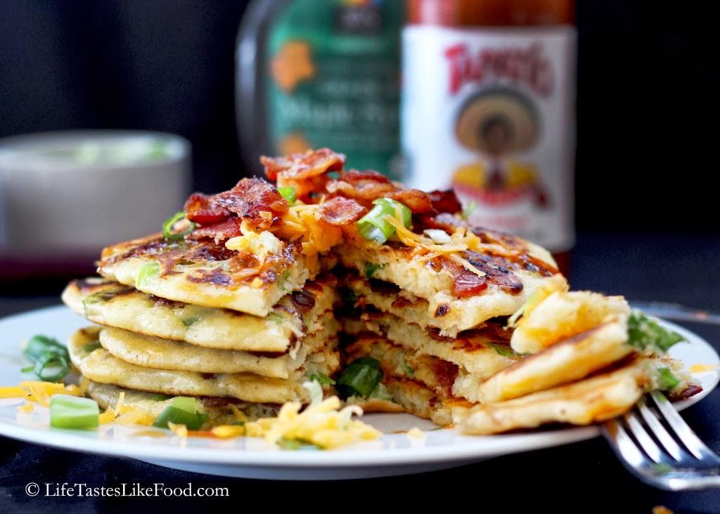 ... pancake with sugar and lemon juice, I tried a mix of savory creations