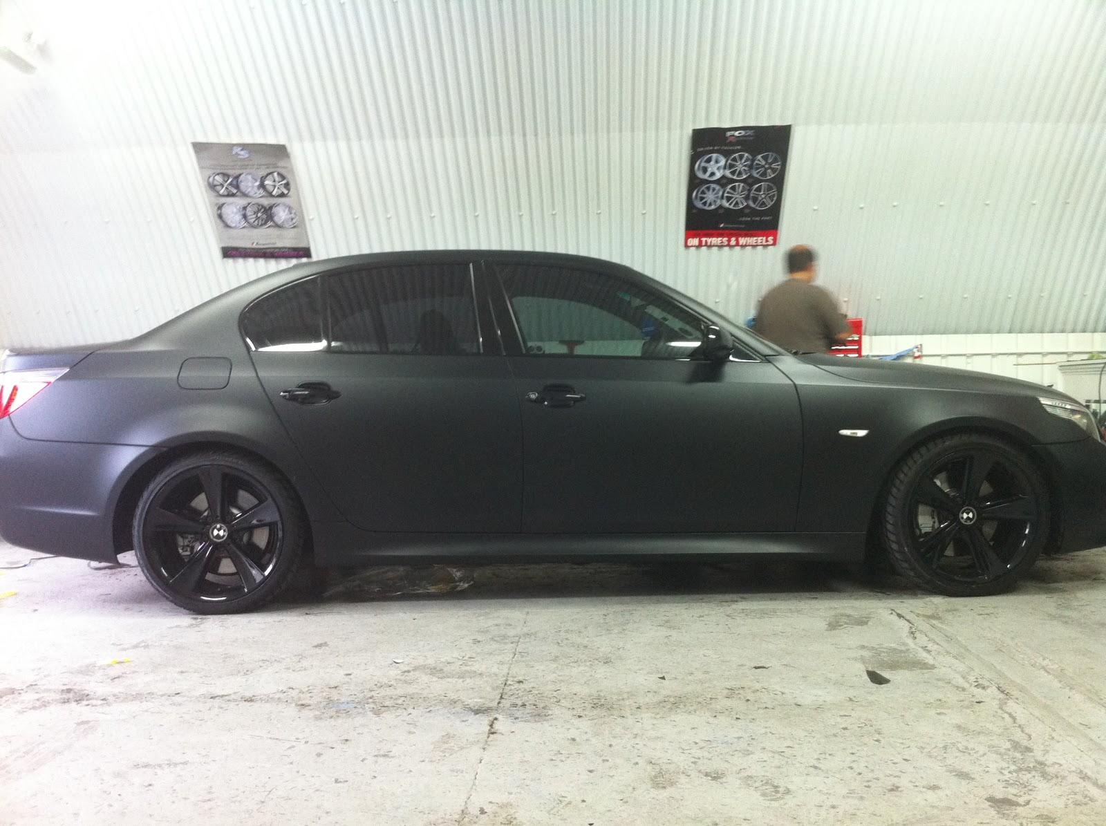 Car style bmw 535 matt black window tinting for 0 window tint