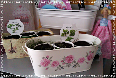 Nový závesný kruh, košíky a bylinková záhradka