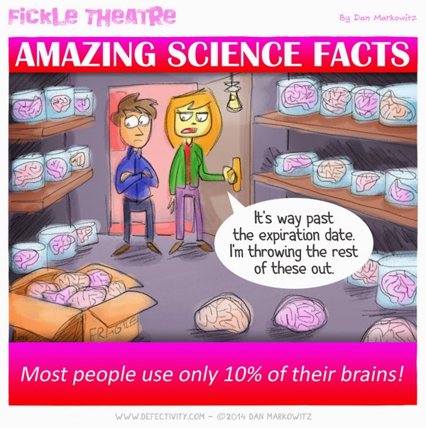 Most people use only 10% of their brains