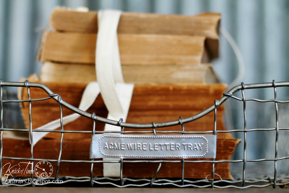 Vintage Wire Paper Basket