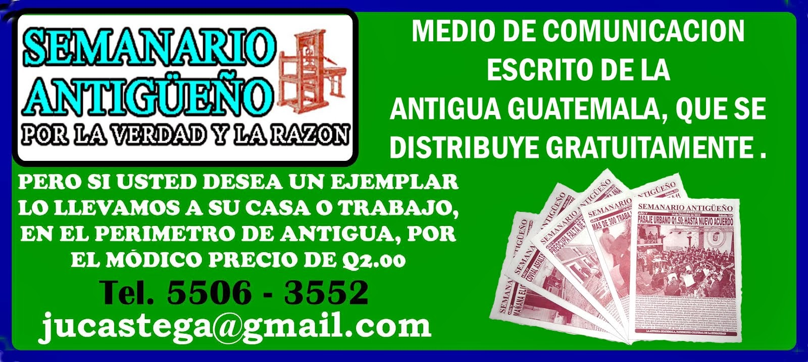 MEDIO DE COMUNICACION DE ANTIGUA GUATE.