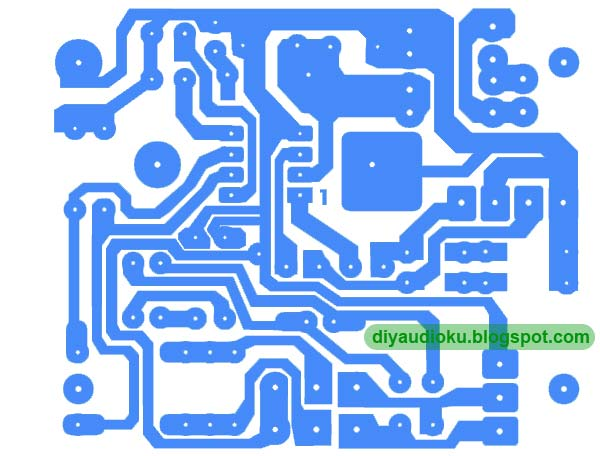 Gambar skema driver power amplifier sederhana