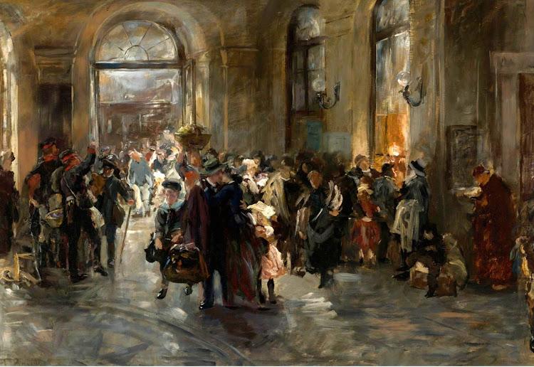 Ferdinand Brütt (1849-1936) - At the Station