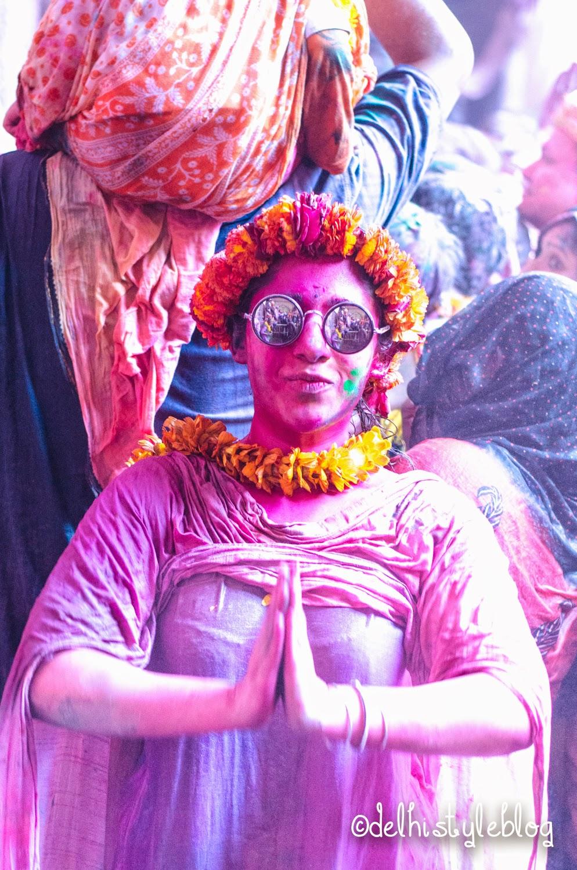 Holi at Banke Bihari Temple 11