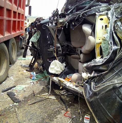 Accident along Dei Dei police Barack in Abuja A