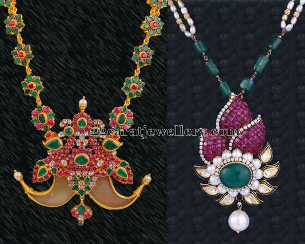Exclusive Pendants by Vasundhara Jewellers