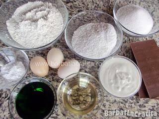 Prajitura cu menta, ciocolata si nuca de cocos ingrediente reteta