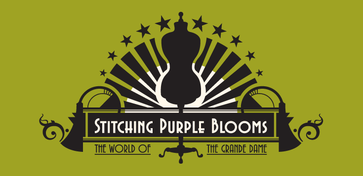 Stitching Purple Blooms