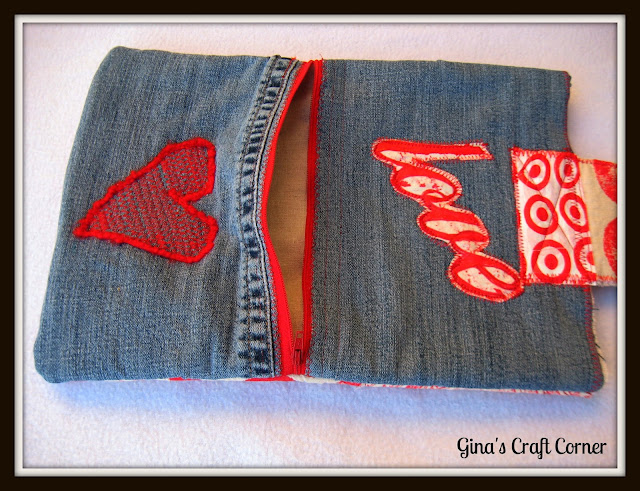 Macbook Sleeve from Upcycled Blue Jeans