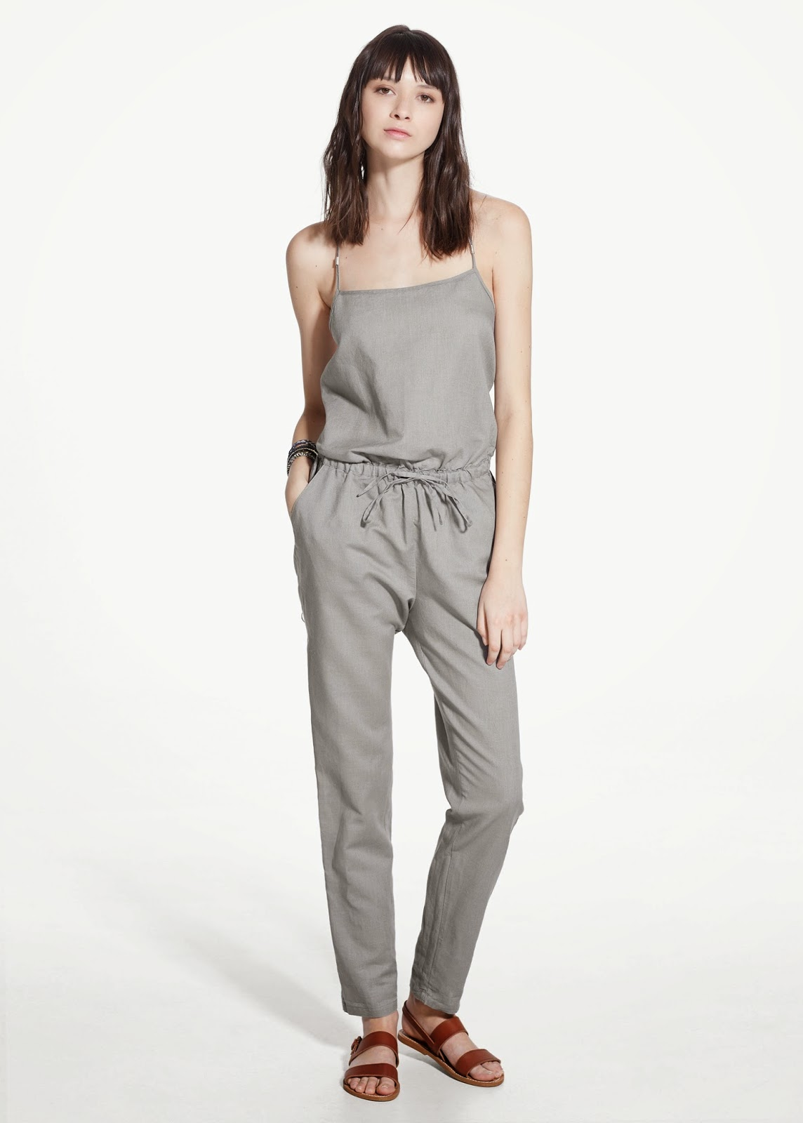 mango grey jumpsuit, linen jumpsuit,