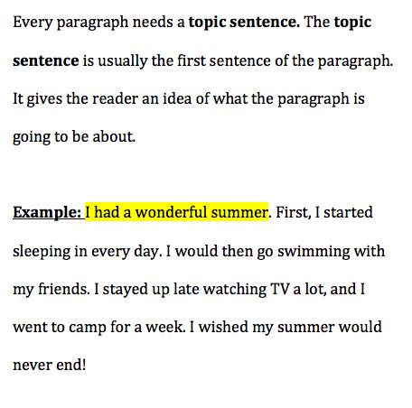 topic sentence about sleep